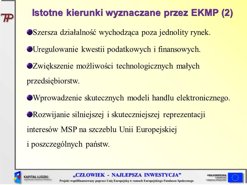 Istotne kierunki wyznaczane przez EKMP (2)