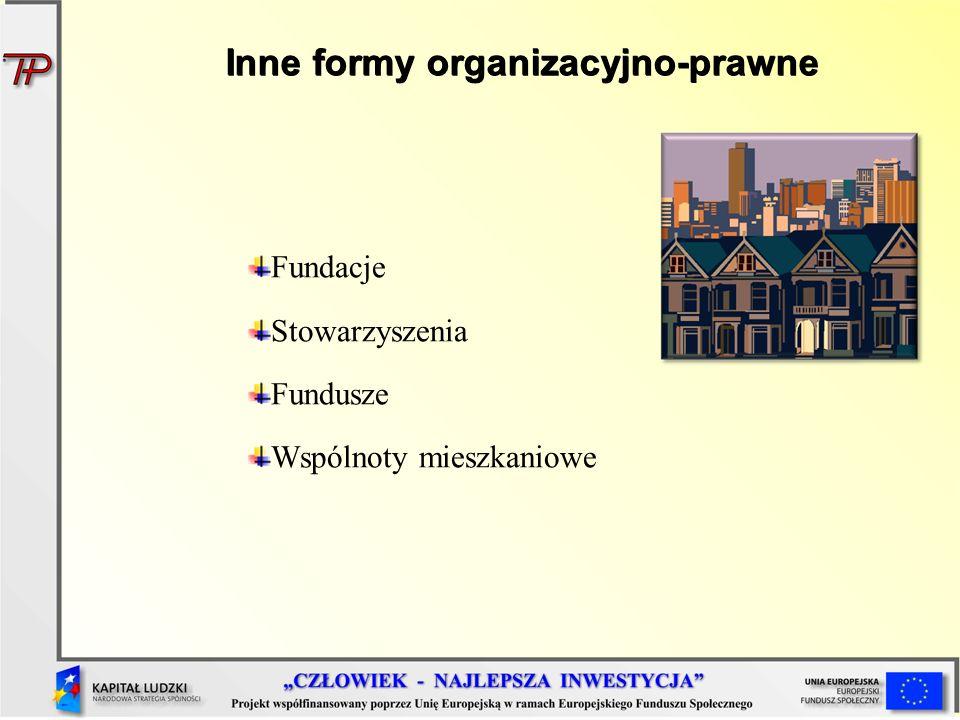 Inne formy organizacyjno-prawne