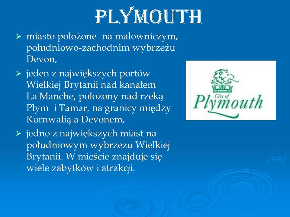 Plymouth miasto położone na malowniczym, południowo-zachodnim wybrzeżu Devon,