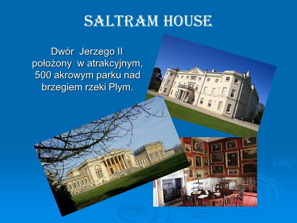 Saltram House Dwór Jerzego II położony w atrakcyjnym, 500 akrowym parku nad brzegiem rzeki Plym.