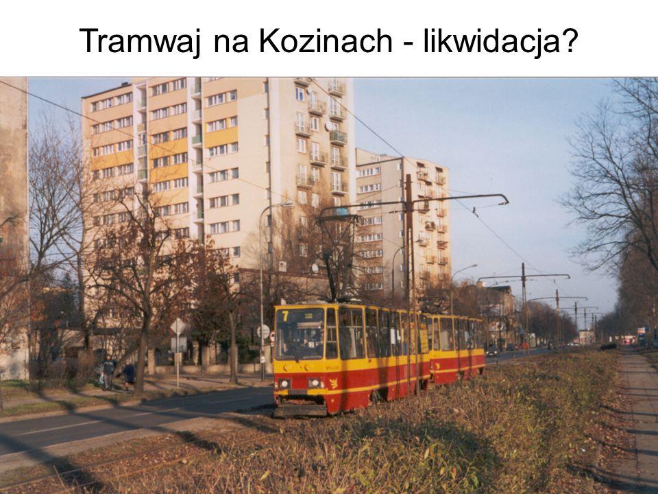 Tramwaj na Kozinach - likwidacja