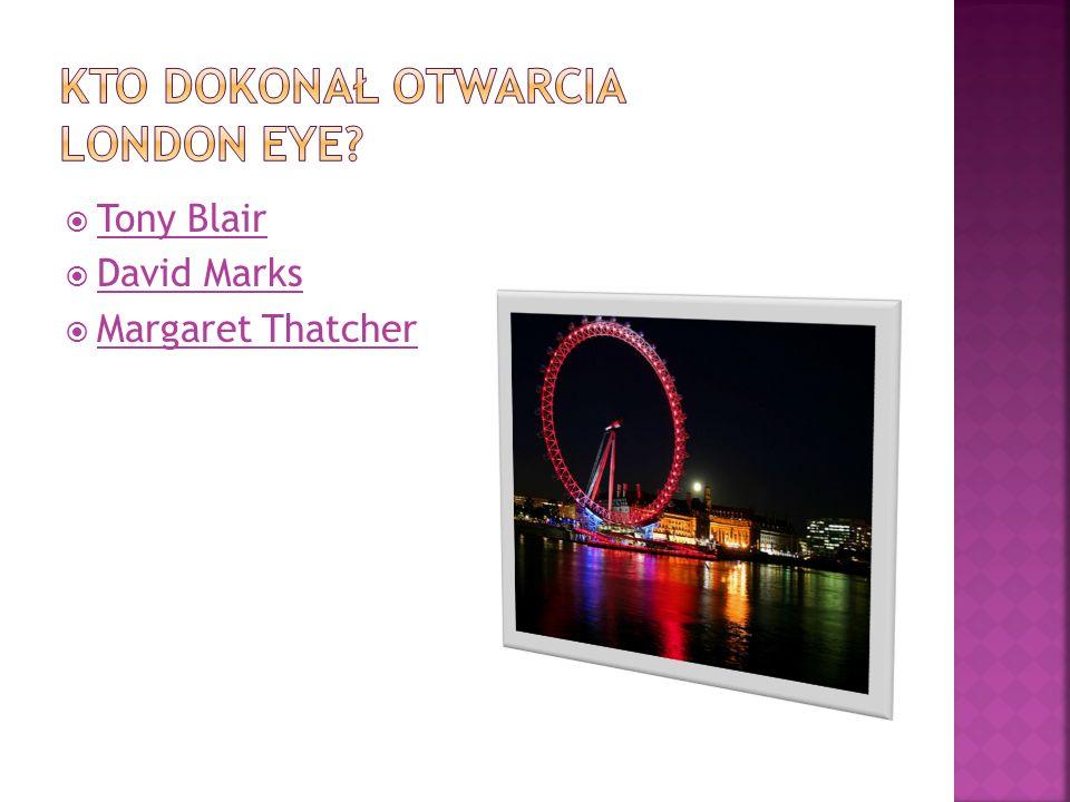 Kto dokonał otwarcia London Eye