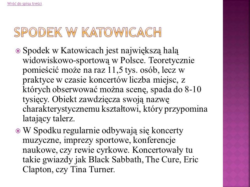 Wróć do spisu treści Spodek w Katowicach.