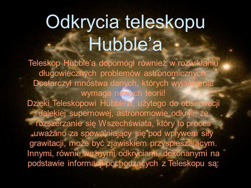 Odkrycia teleskopu Hubble'a