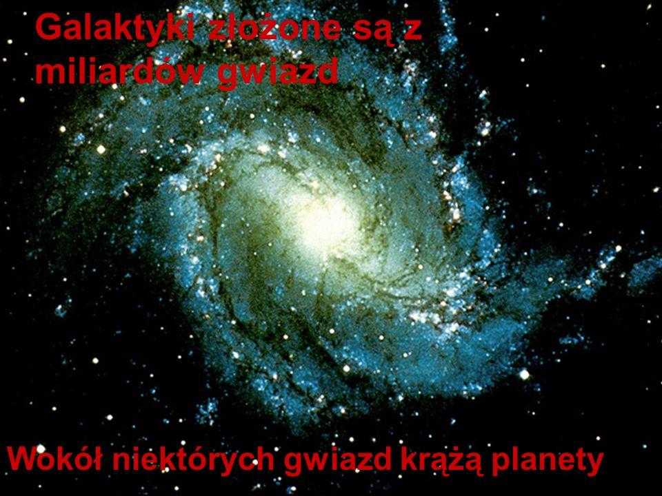 Galaktyki złożone są z miliardów gwiazd