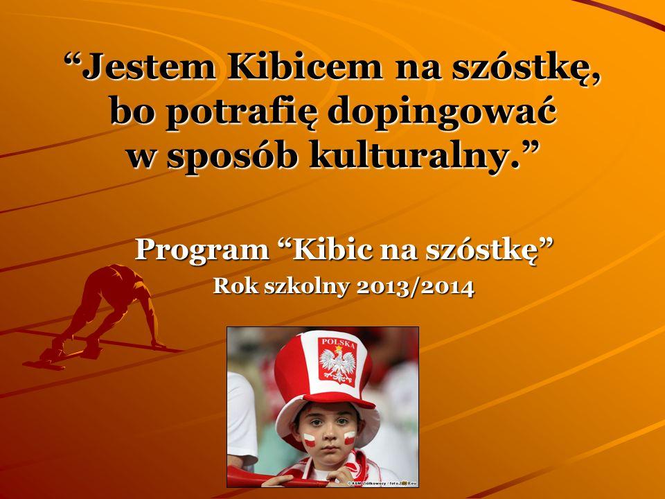 Program Kibic na szóstkę Rok szkolny 2013/2014