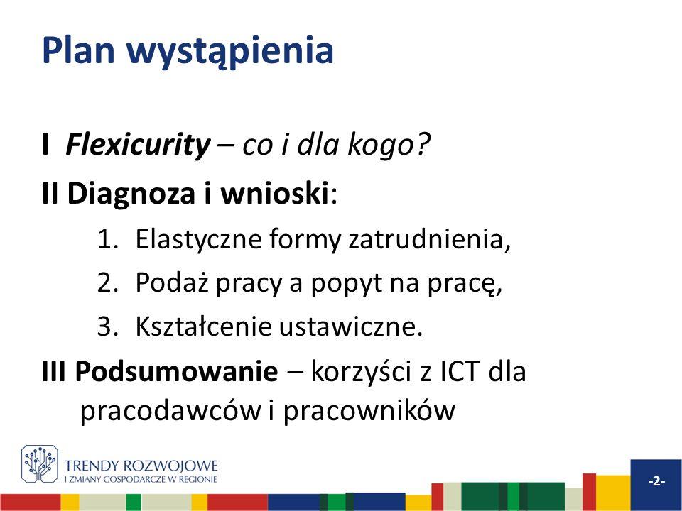 Plan wystąpienia I Flexicurity – co i dla kogo II Diagnoza i wnioski: