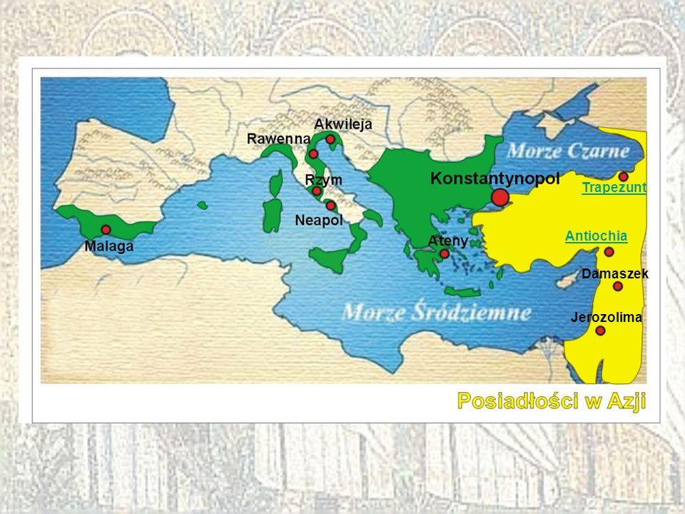 Trapezunt Antiochia Damaszek Jerozolima