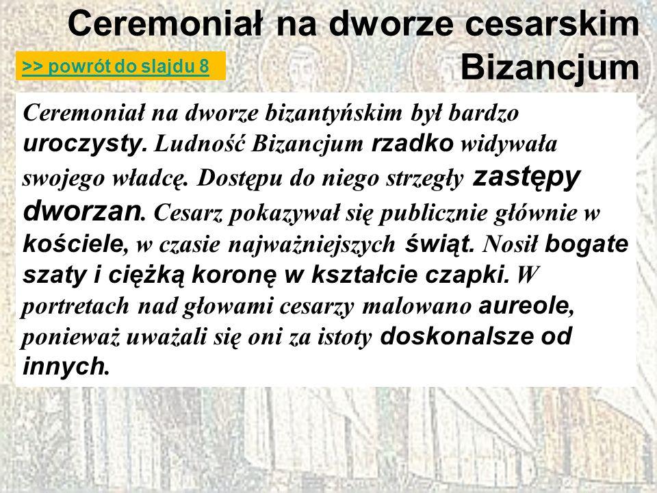 Ceremoniał na dworze cesarskim Bizancjum
