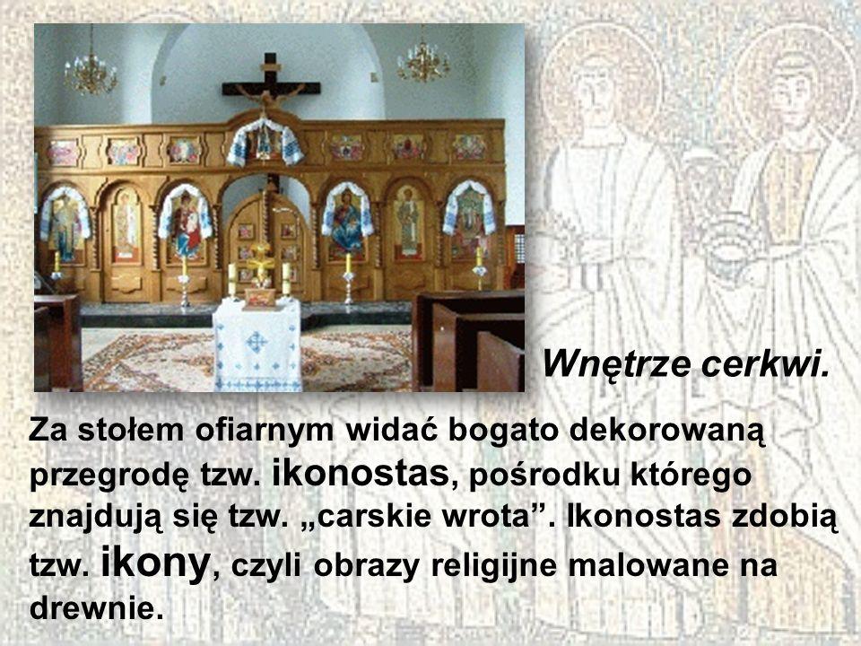 Wnętrze cerkwi.