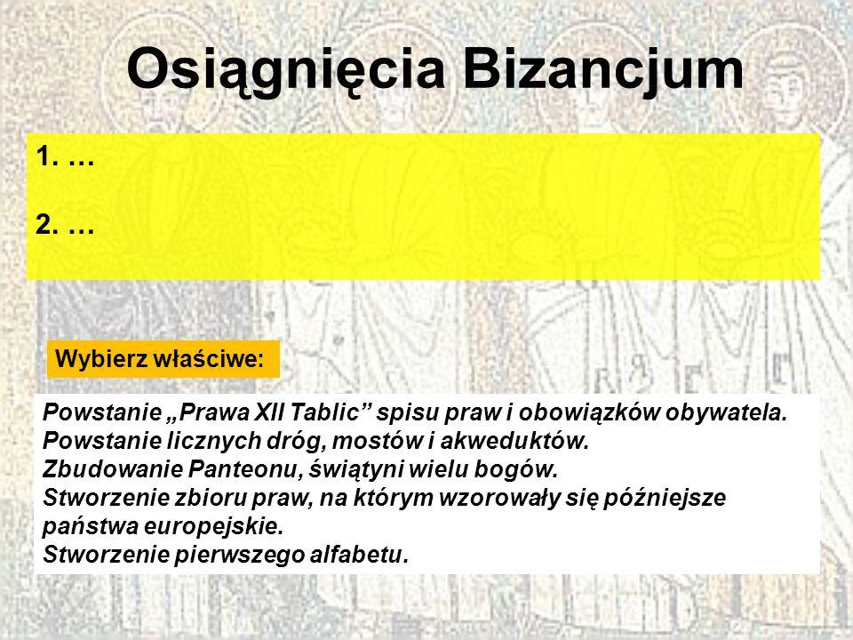 Osiągnięcia Bizancjum
