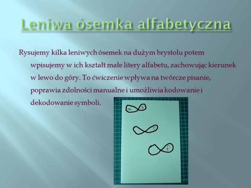 Leniwa ósemka alfabetyczna