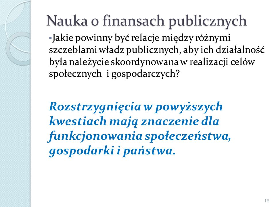 Nauka o finansach publicznych