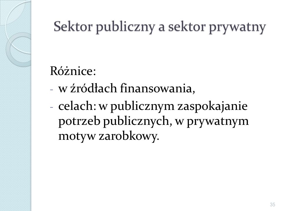Sektor publiczny a sektor prywatny