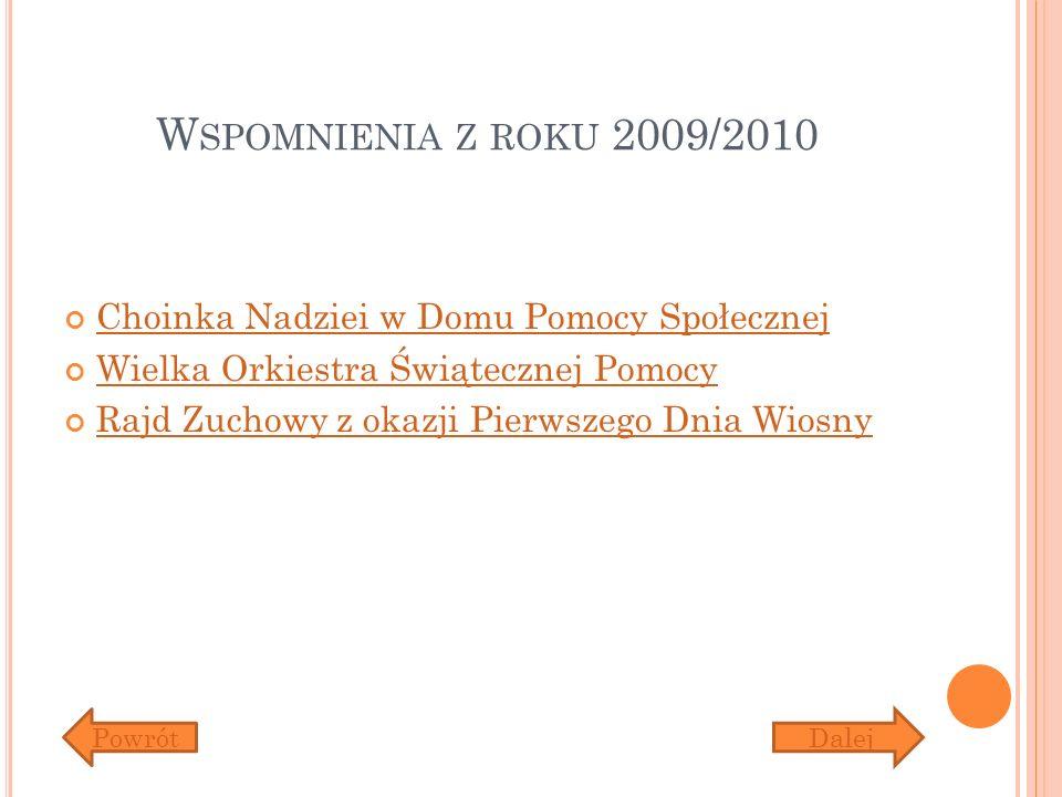 Wspomnienia z roku 2009/2010 Choinka Nadziei w Domu Pomocy Społecznej