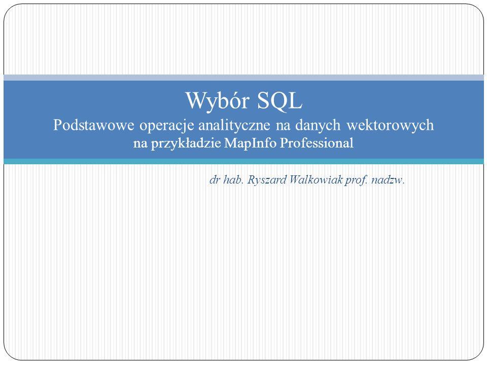 dr hab. Ryszard Walkowiak prof. nadzw.