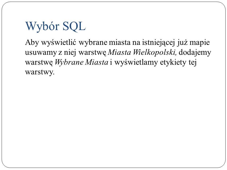 Wybór SQL
