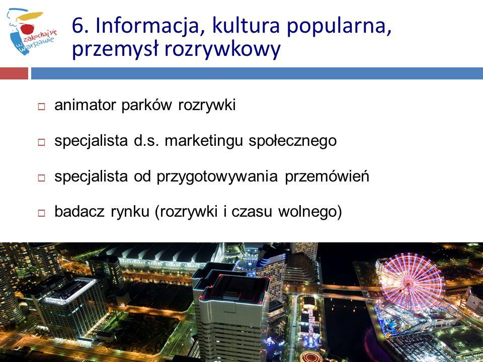 6. Informacja, kultura popularna, przemysł rozrywkowy