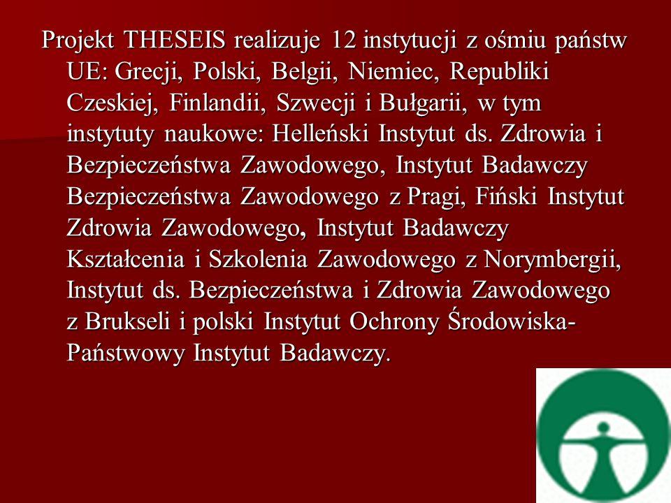 Projekt THESEIS realizuje 12 instytucji z ośmiu państw UE: Grecji, Polski, Belgii, Niemiec, Republiki Czeskiej, Finlandii, Szwecji i Bułgarii, w tym instytuty naukowe: Helleński Instytut ds.