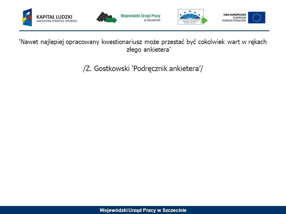 /Z. Gostkowski 'Podręcznik ankietera'/