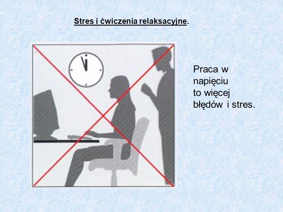 Stres i ćwiczenia relaksacyjne.