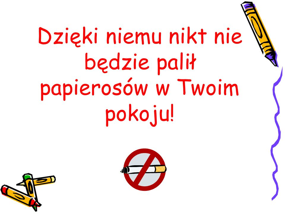 Dzięki niemu nikt nie będzie palił papierosów w Twoim pokoju!