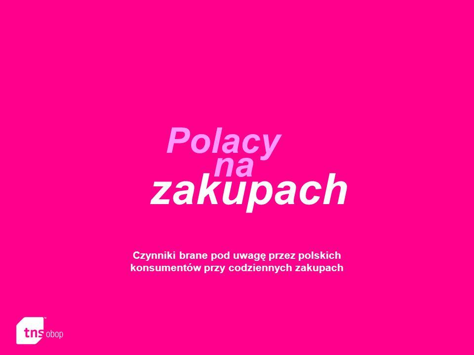 Polacy na zakupach Czynniki brane pod uwagę przez polskich konsumentów przy codziennych zakupach