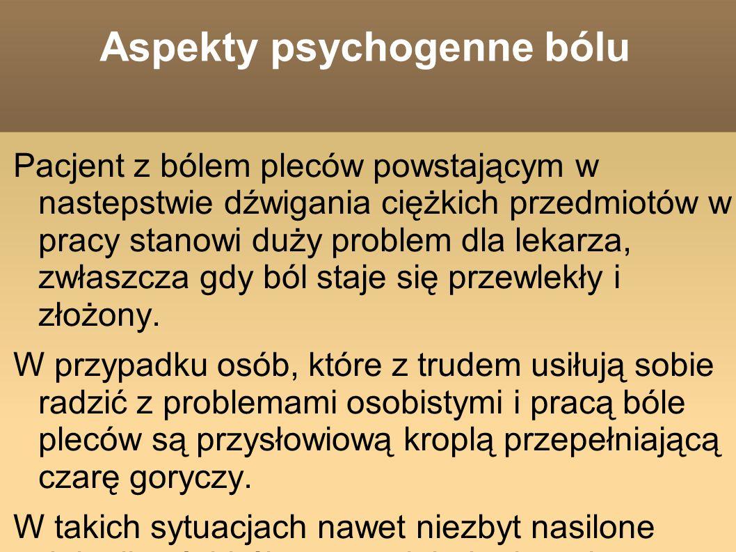 Aspekty psychogenne bólu