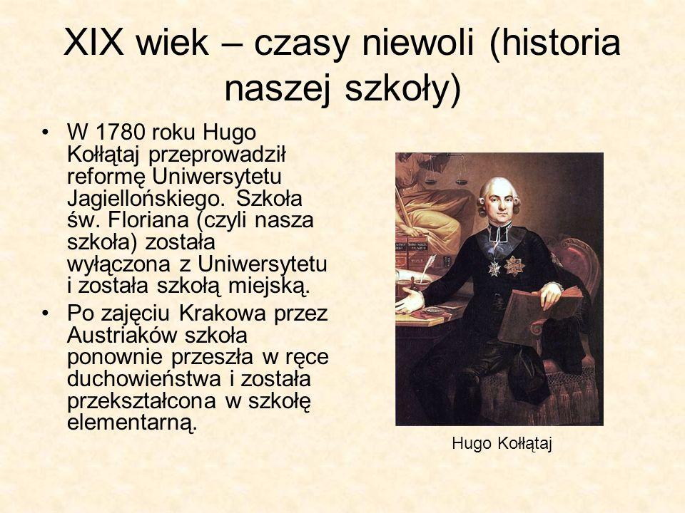 XIX wiek – czasy niewoli (historia naszej szkoły)