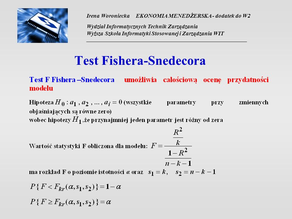 Test Fishera-Snedecora