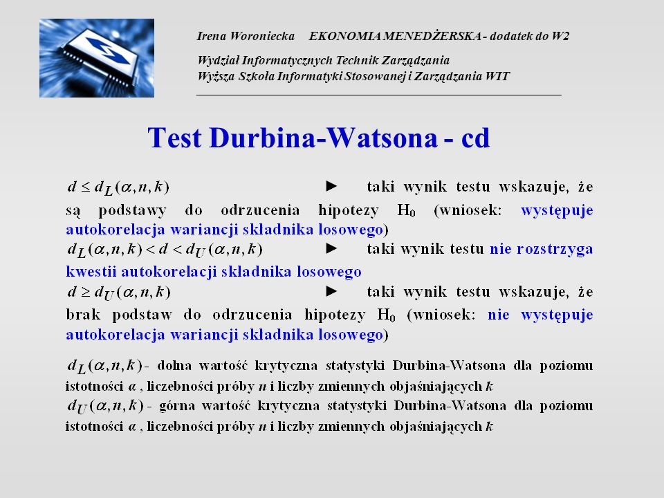 Test Durbina-Watsona - cd