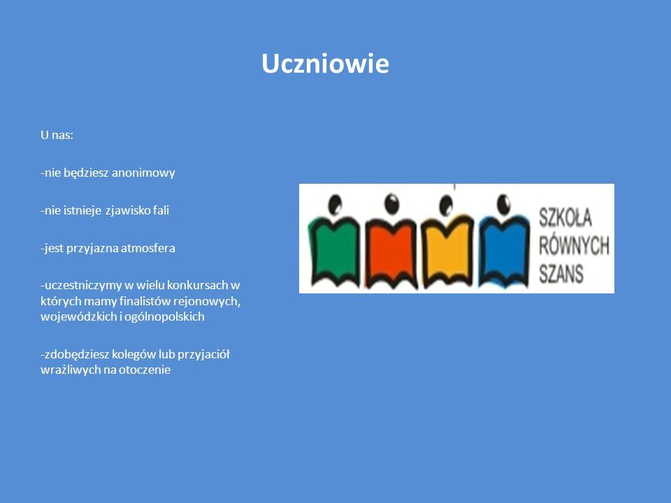Uczniowie U nas: -nie będziesz anonimowy -nie istnieje zjawisko fali