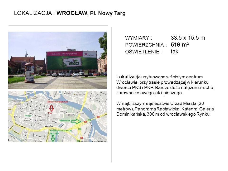 LOKALIZACJA : WROCŁAW, Pl. Nowy Targ