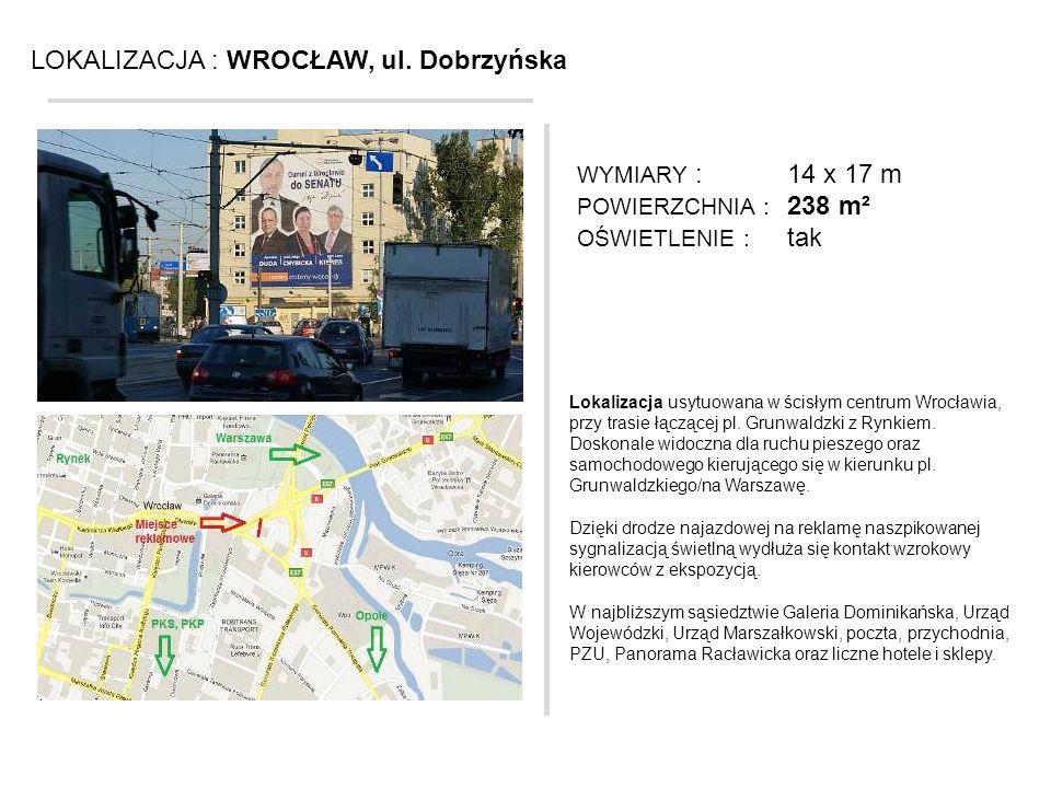 LOKALIZACJA : WROCŁAW, ul. Dobrzyńska
