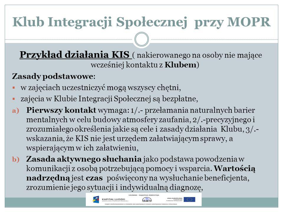Klub Integracji Społecznej przy MOPR