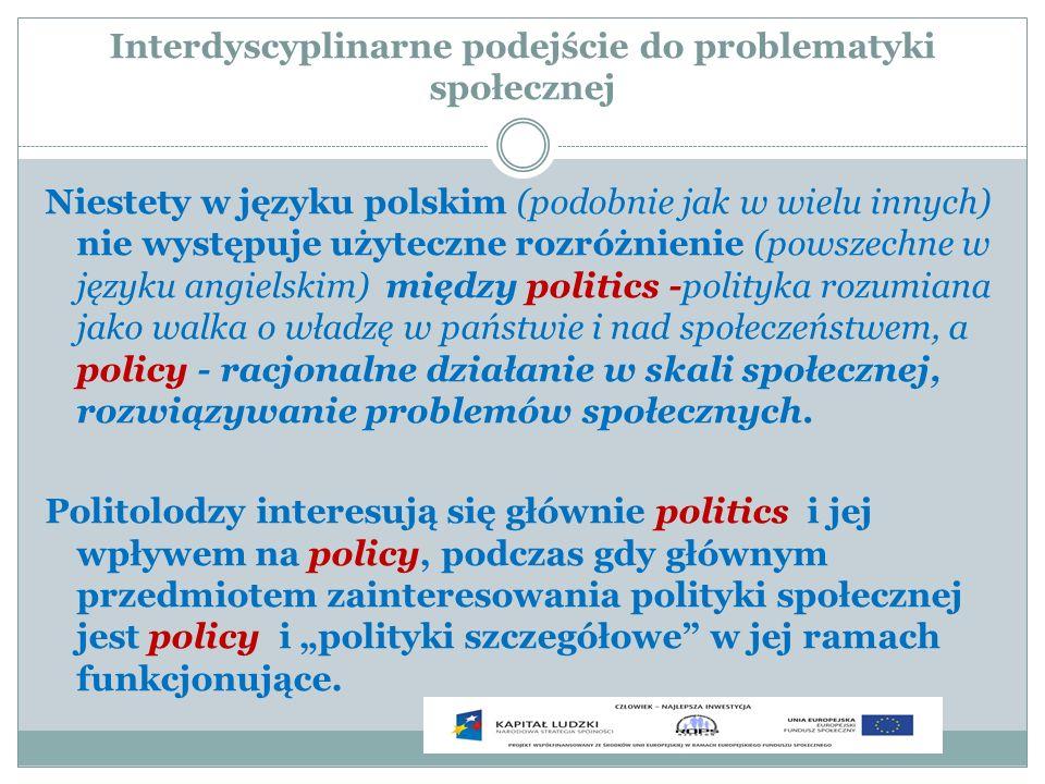 Interdyscyplinarne podejście do problematyki społecznej