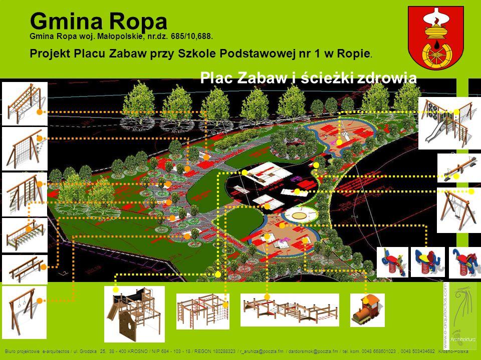 Gmina Ropa Plac Zabaw i ścieżki zdrowia