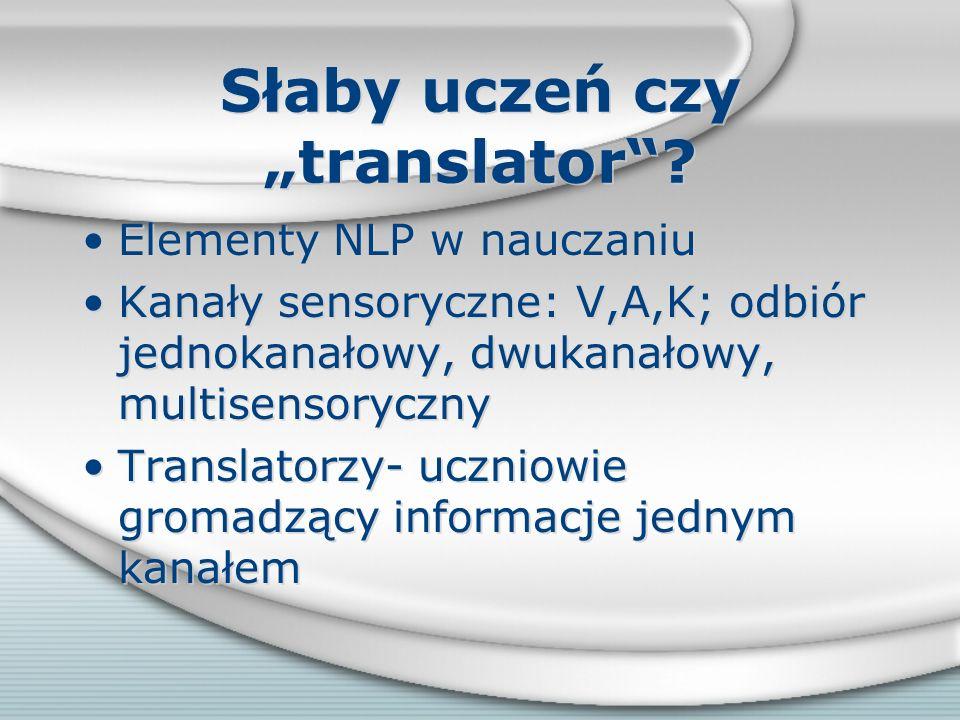 """Słaby uczeń czy """"translator"""