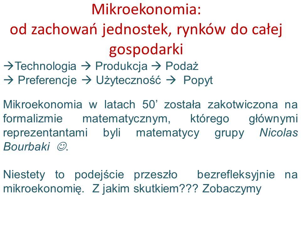 Mikroekonomia: od zachowań jednostek, rynków do całej gospodarki