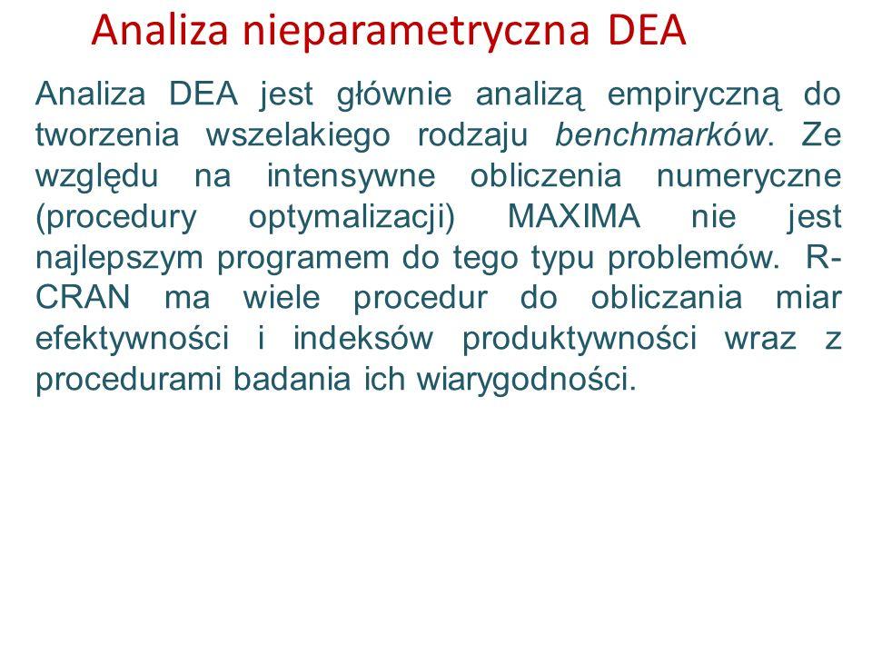 Analiza nieparametryczna DEA