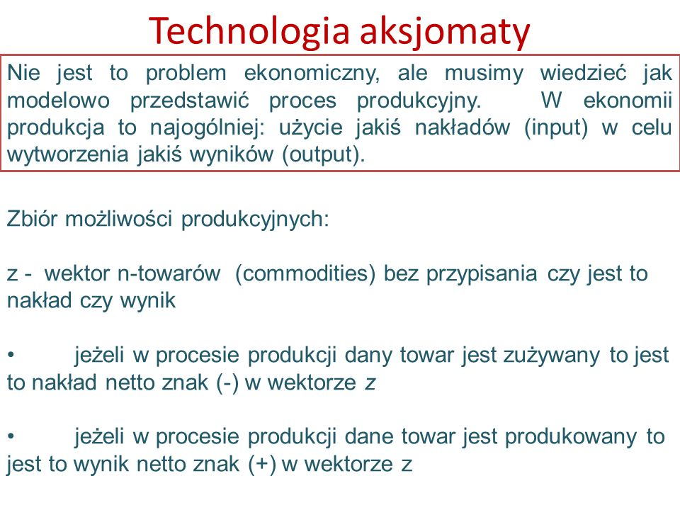 Technologia aksjomaty