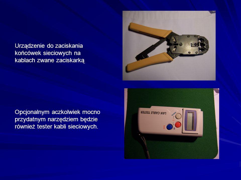 Urządzenie do zaciskania końcówek sieciowych na kablach zwane zaciskarką