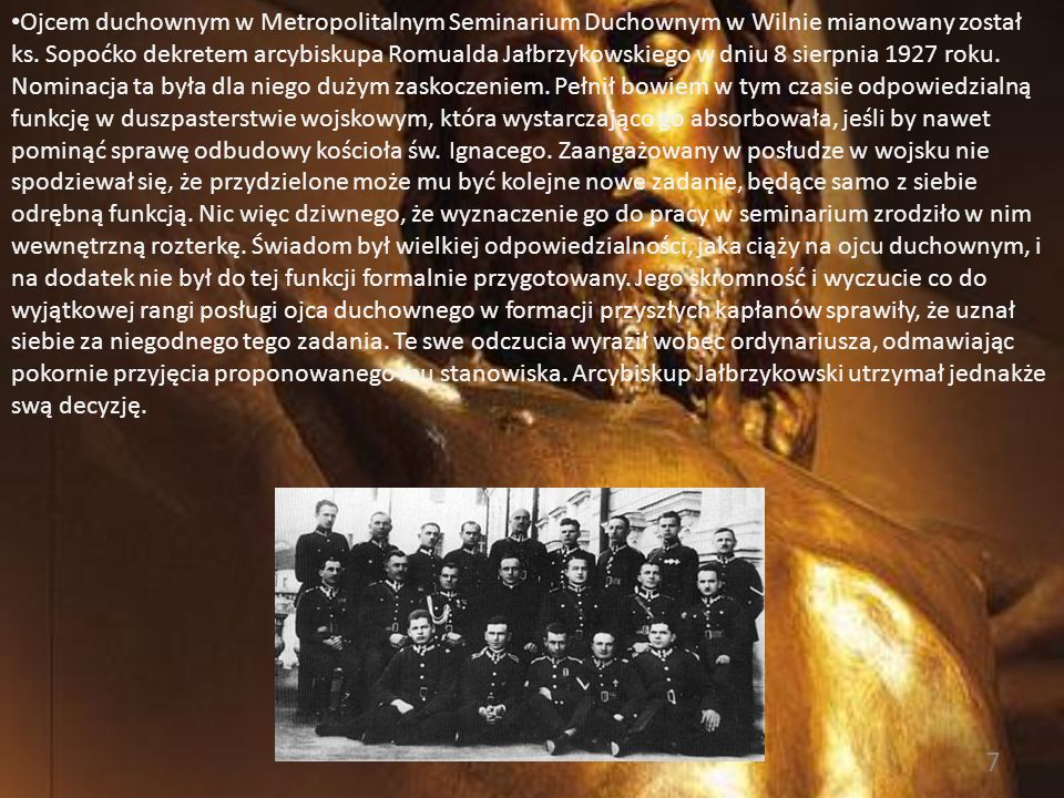 Ojcem duchownym w Metropolitalnym Seminarium Duchownym w Wilnie mianowany został ks.