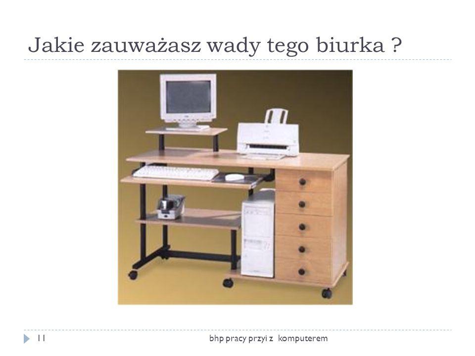Jakie zauważasz wady tego biurka