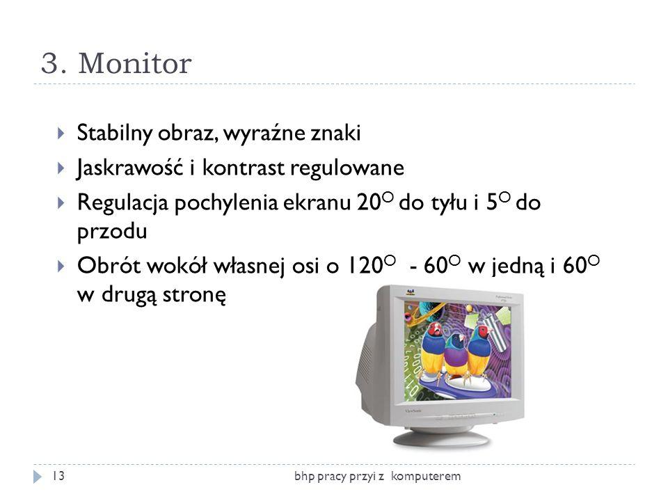 3. Monitor Stabilny obraz, wyraźne znaki