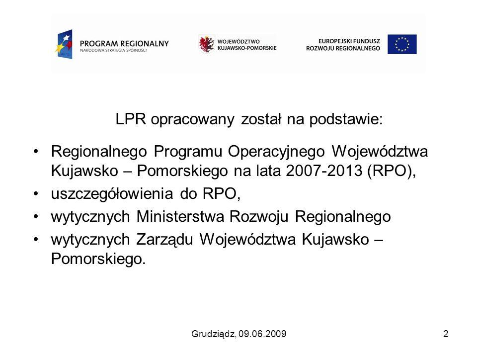 LPR opracowany został na podstawie: