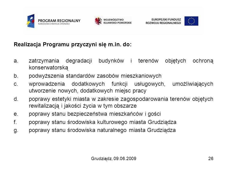 Realizacja Programu przyczyni się m.in. do: