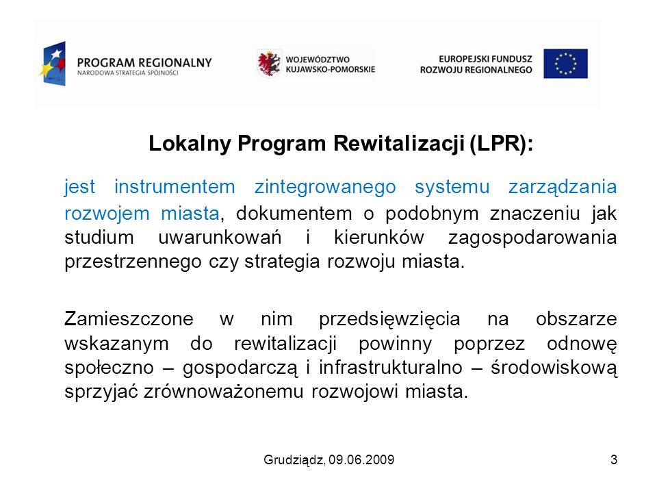 Lokalny Program Rewitalizacji (LPR):