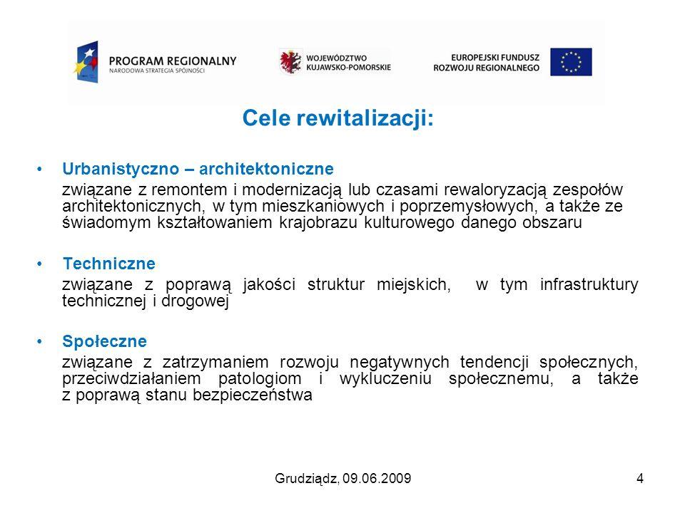 Cele rewitalizacji: Urbanistyczno – architektoniczne