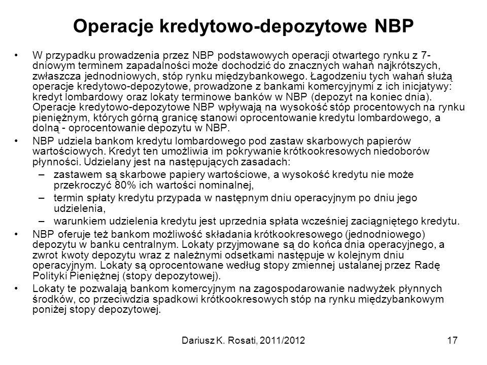Operacje kredytowo-depozytowe NBP